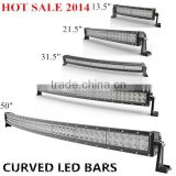 China Wholesale Curved led Bar Light for Tractors, 50 inch led offroad light bar288W led light bar 4x4