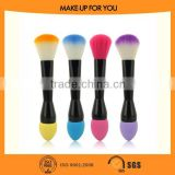 2015 New Fashion Two Tops Make UP Powder Brush Sponge Puff Ege Brush