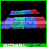LED lighting fiber optical fabric with RGB changeable colors stretch satin fabric/ cuben fiber fabric