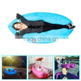 Free Sample Fast Inflatable Air Sleeping Bags Banana Sleeping Bag for Outdoor Camping Blue
