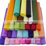 Factory stock high quality 50cm x 2.5m roll-up hem crepe paper flowers handmade fabric flowers