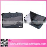 top fashion Gray 3pcs/Set TravelClothing Organizers Cube Packing pouch Bag