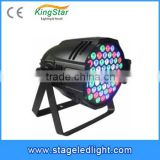 2015 China Factory Battery Powered Christmas 54x1W RGBW 4-in-1Quad LED Stage Par Can Light for Sale Bar Club Show Disco DJ Party