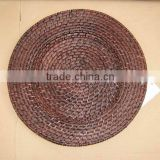 Rattan-bamboo weaving charger plates
