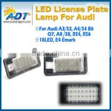 Fast delivery LED Number License Plate Lamp for Audi A3 A4 A6 A8 Q7