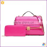 2PCS set bag Designer handbag for women with good leather factory price leather tote bags