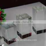 wholesale clear crystal quartz perspex cube block laser engraved crystal block