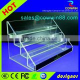 clear acrylic rectangle storage box with lid, stackable cube acrylic storage boxes