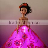LED / Fiber Optic Resin Christmas Decorations / Girl's Christmas Presents