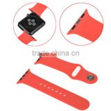 Silicone Watch Band Strap Bracelet Fitness Replacement Sport Wrist Straps With Connector Adatptor Adjustment Length For Iwatch