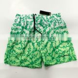Printed Gradient color beachwear polyester board shorts and swim trunks for man