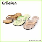 2016 New Wooden Designs Custom Flip Flops Shoes Men Import Slipper China