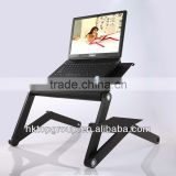 Multi-functional fold up laptop desk used in bed