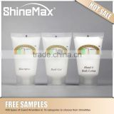 cheap travel cosmetic set /5 star brown oval bottle hotel shampoo /hotel toiletries suppliers