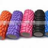 EVA cover PVC core hollow yoga foam roller in ecercise different colors