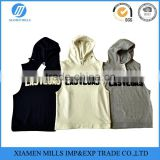 men's fashion blank custom sleeveless hoodies for men boys gym hoodie for wholesale