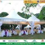 white PVC 20 ft x 20 ft pagoda party tent factory price