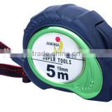 Double side embossed tape measure with rubber coated OEM brand steel measuring tape from CE ISO9001 BSCI factory