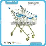 Easy Use 4 Wheel European Style Supermarket Foldable Wanzl Shopping Trolley