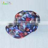 custom-made top quality 5 panels camper cap with fabric badge more styles available all over print