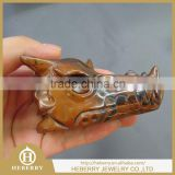 unique crystal products Natural yellow tiger eye Dragon Skull / Wholesale Quartz crystal Dragon Head
