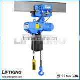 2ton electric Chain Hoist with trolley , professional manufacturer with ISO , CE certificate