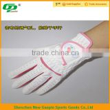 High quality cabretta leather golf glove & pink golf gloves