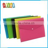 Plastic PP file document folder bag with 4 pockets, custom design document file folder bag