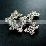 10x15mm vintage antiqued silver butterfly flat alloy beads DIY beading supplies 3993010