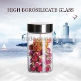 china factory 350ml borosilicate glass jar for food storage
