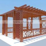 2016 new design Aluminum alloy metal framed pergola