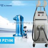 hair removal machine for gray haur/shr machine with two treatment heads for skin rejuvenation and hair removal