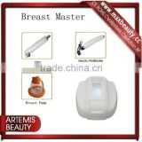 Portable breast building instrument vacuum&release for breast enlargement and nipple care
