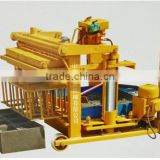 Hydraulic movable cement brick laying machine QTY4-40 hydroform concrete block shaping equipment best selling product in Africa