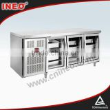 Auto Defrosting Commercial Bakery Stainless Steel 3 Glass Door Cooler/Electrical Cabinet Cooler/Stainless Steel Cooler