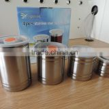 food grade stainless steel storage canister can keep fresh/stainless steel canister/stainless steel canisters