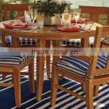 2017 Trade Assurance New Summer Arrival 4-pc Outdoor round wooden table and chair for garden