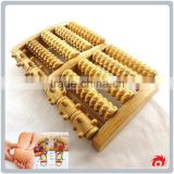 5 rows wooden care reflexology relax relief stress health therapy foot roller massager