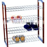 H1316 4-Tier shoe rack with wood side