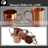 Copper Drinking Mug Cup Brass Handle Hammered Cup