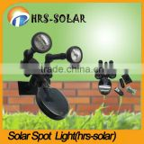 plastic round solar PIR spot light twin head