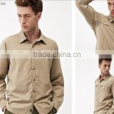 Dual function Men Shirts Outdoor Anti-uv Quick-dry Clothes khaki Color Fishing Hiking Shirt