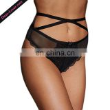 Women's Sexy High Waist Naughty Full Back Strappy Lace Panties Underwear