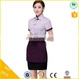 High quality hotel uniform waitress dress for sale