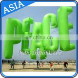 Pvc Inflatable Helium Letter Balloon / Inflatable Advertising Letter