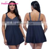 High Quality Latest Design V Neck Plus Size Women Swimwear