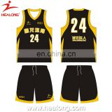 2014 china oem best basketball jersey design basketball jersey black and yellow cheap plain basketball jerseys