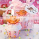 Teddy Bear Cupcake Candle