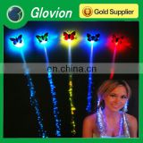 Hot sale decoration glowing flash braid light up hair fiber hair braid /flashing Braid for Party
