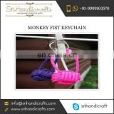 Exquisite Designer Monkey Fist Nautical Rope Keychain for Mass Purchase by Well-Known Bulk Supplier